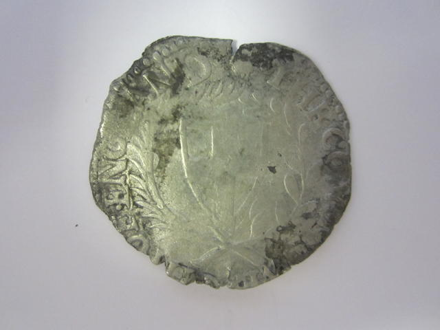 Commonwealth, 1649-60, Shilling, 16**, 3.5g, shield of St. George within a wreath,