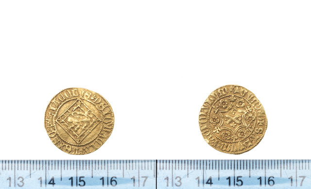 S James I, 1406-37, Demy, 3.07g, Lion rampant on lozenge, m.m. crown,