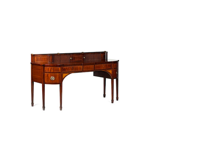 An Edinburgh George III mahogany and boxwood lined sideboard