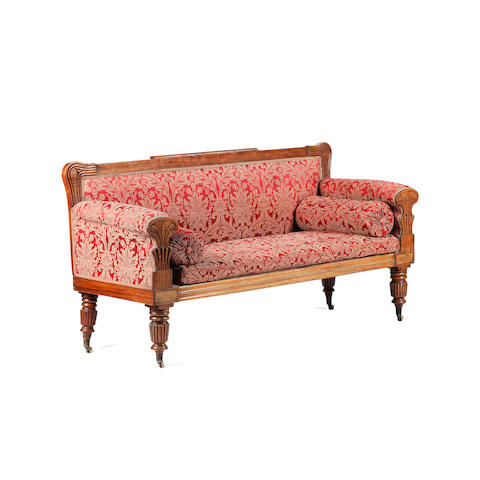 A George IV mahogany three seat 'Roman Vase' sofa Edinburgh
