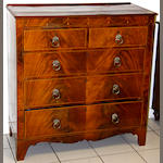 A Regency mahogany and inlaid chest of drawers