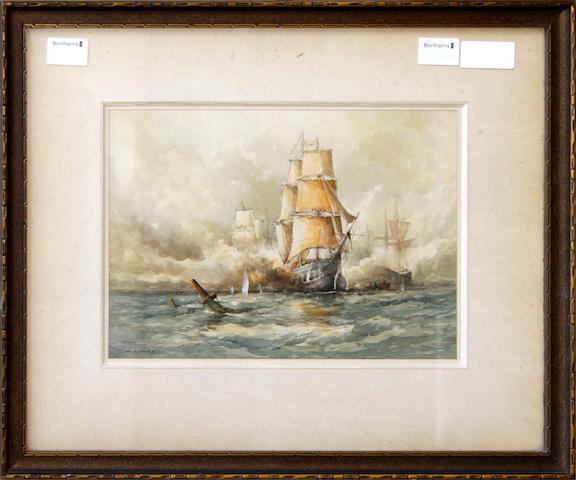 S. Mckinley, (1920-) A Napoleonic sea battle 23cm x 33cm