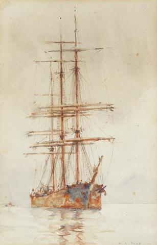 Henry Scott Tuke, RA, RWS (British, 1858-1929) Shipping study ???