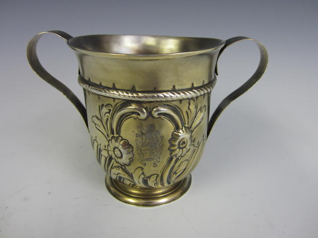 A George III silver-gilt two-handled loving cup  by WI, untraced, London 1778