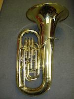 A three valved brassed English Tuba by Boosey and Hawkes, London (2)