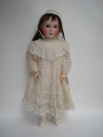 Large S.F.B.J bisque head doll