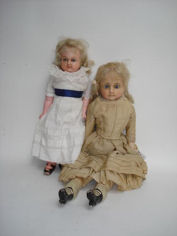 Wax over composition shoulder head doll 2