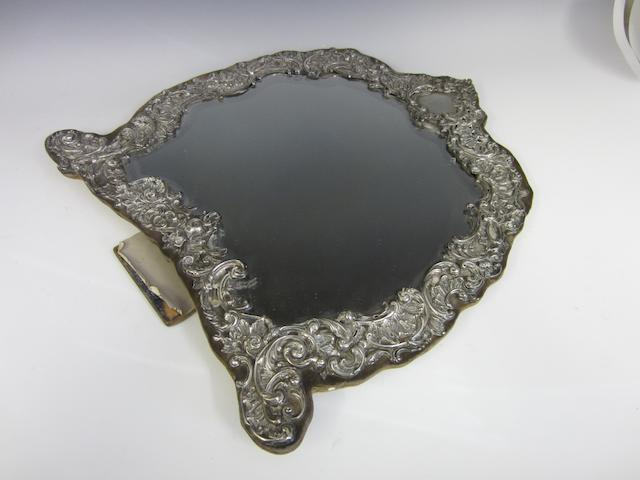 A Victorian silver framed dressing table mirror by Henry Manton, Birmingham 1903