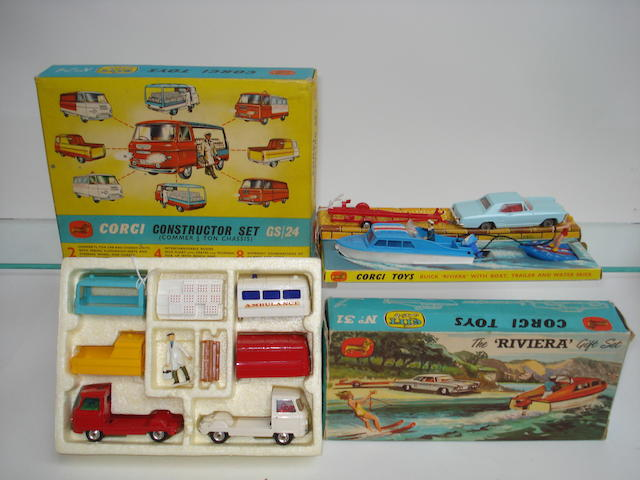 Corgi GS 31 The Riviera and 24 Constructor set 2