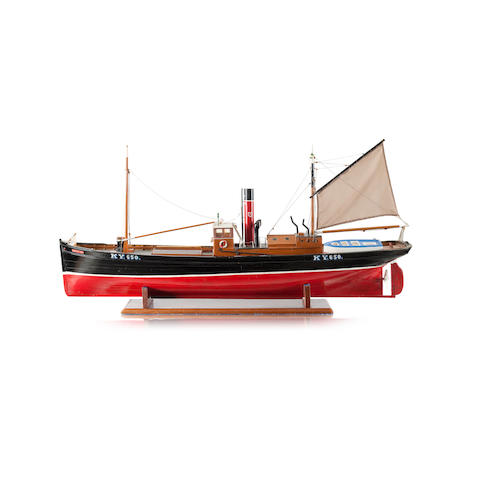 A scale model of an East Neuk fishing boat  Kielduck