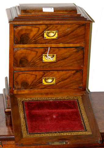 A Victorian walnut tabletop chest