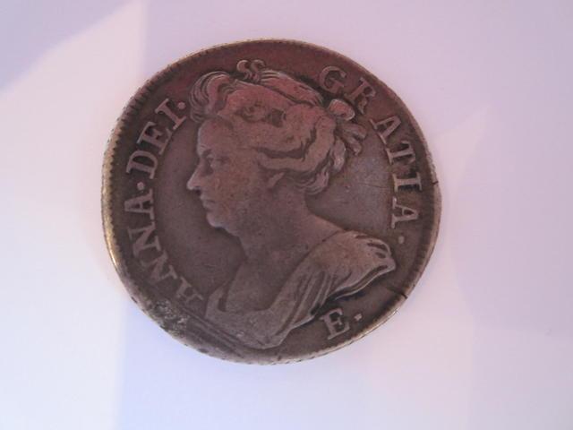 Anne, Shilling, 1709, 'Edinburgh' bust, E* below,