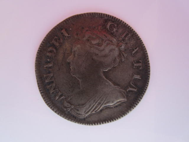 Anne, 1702-14, Shilling, 1704, second draped bust left,