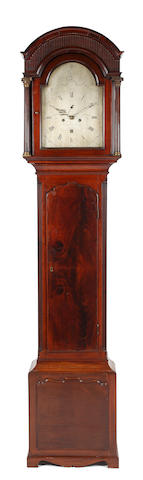 Thomas Field, Bath : A George III mahogany longcase clock.