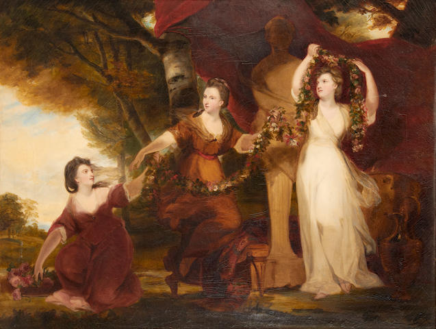 After Sir Joshua Reynolds, PRA Three Ladies Adorning a Term of Hymen