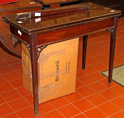 An 18th century mahogany tea table