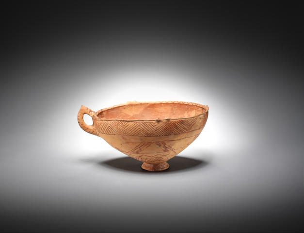 ?Phyrigian pottery bowl, 7 ½in (19cm) high, 14½in (37cm) wide