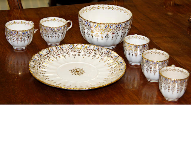 A Davenport Longport Staffordshire part tea and coffee service 19th Century,