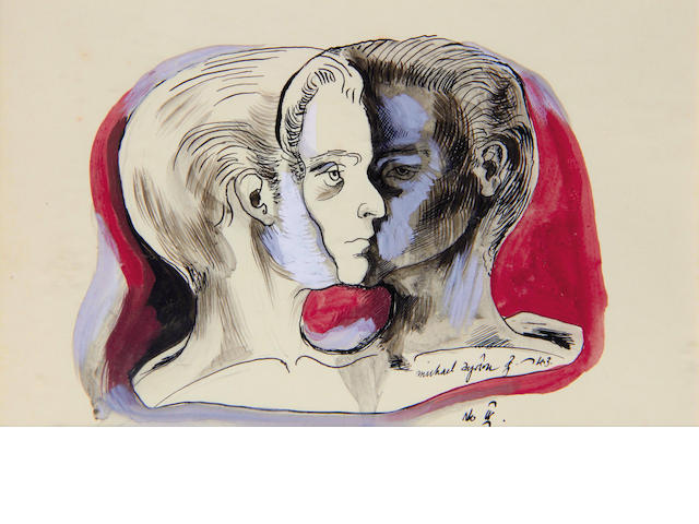 Michael Ayrton (British, 1921-1975) Two Heads (no 4)