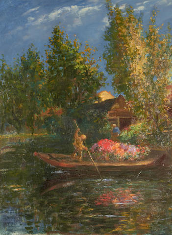 Frans David Oerder (South African, 1867-1944) The flower boat