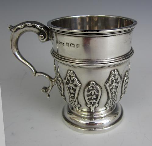 A silver christening mug by Wilmot Manufacturing Co., Birmingham 1924