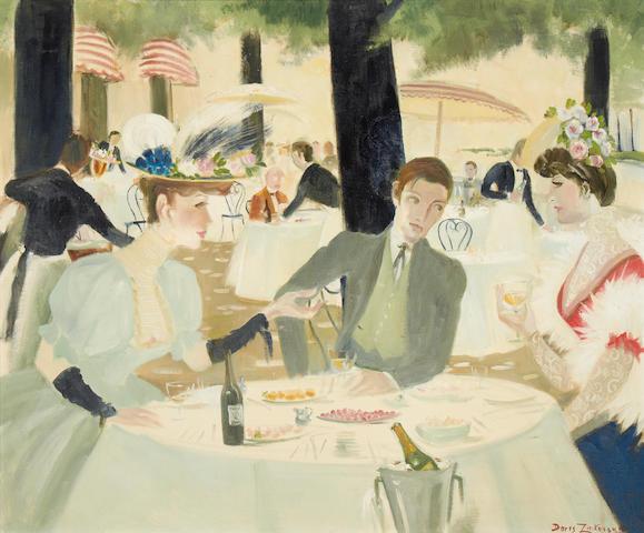 Doris Clare Zinkeisen (British, 1898-1991) La Pavilion Dauphine, Bois a Boulogne