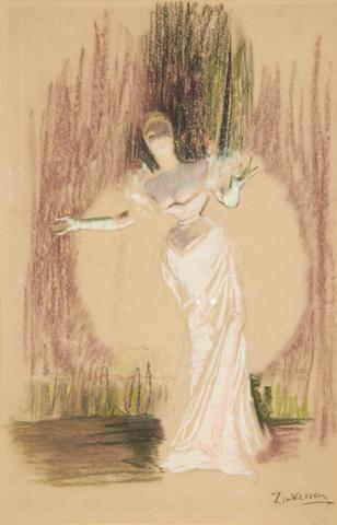 Doris Clare Zinkeisen (British, 1898-1991) La Chantreuse