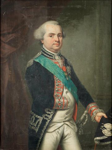 German School, circa 1790 Portrait of Louis Stanislas Xavier de Bourbon (1754-1824), Comte de Proven