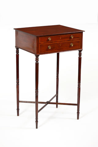 A George III mahogany occasional writing table