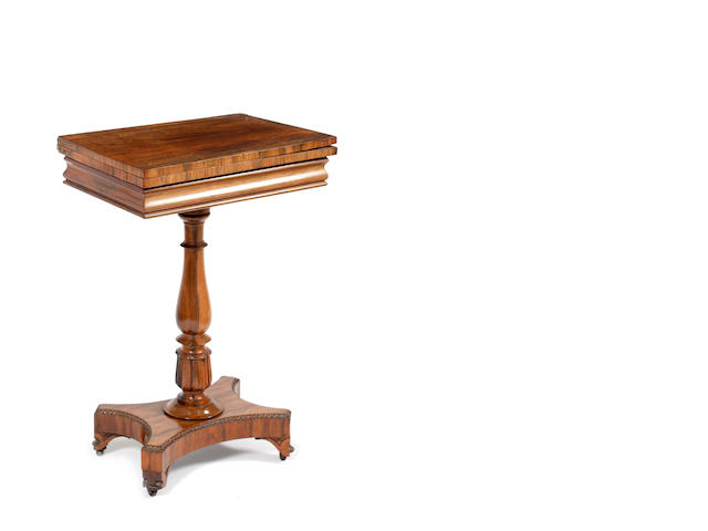A William IV rosewood occasional writing table