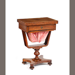 A William IV rosewood work table