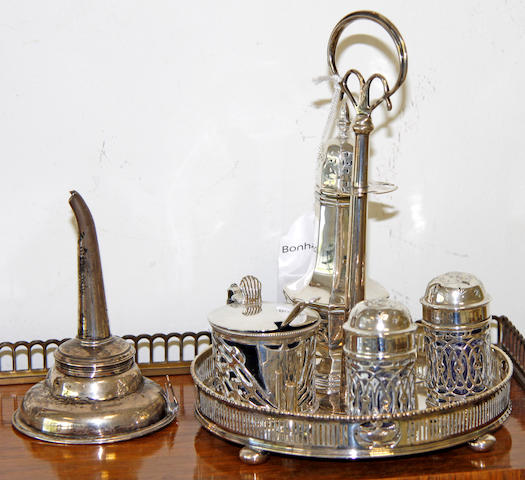 A set of three dwarf candlesticks,with wrythen stems and swag decorated square bases, a pair of similar candlesticks with fluted stems, a Birmingham assay office bi-centinary waiter, 1973 (cased) and otgher small articles of silver.