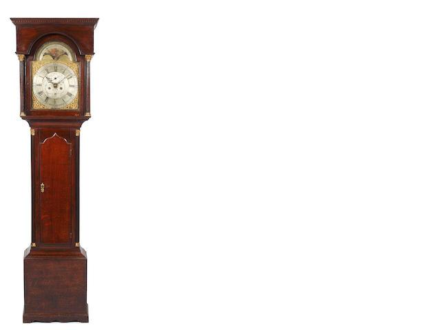 John Charlton, Durham: A George III oak longcase clock