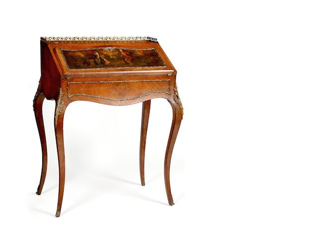 A Louis XV style kingwood bureau de dame