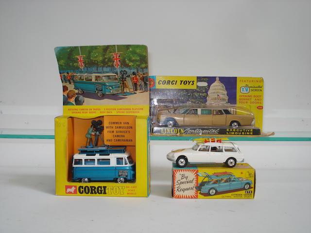 Corgi Commer Camera van, Citroen Winter Olympics and Lincoln Continental 3