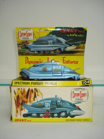 Dinky 104 Spectrum Pursuit vehicle and other diecast lot