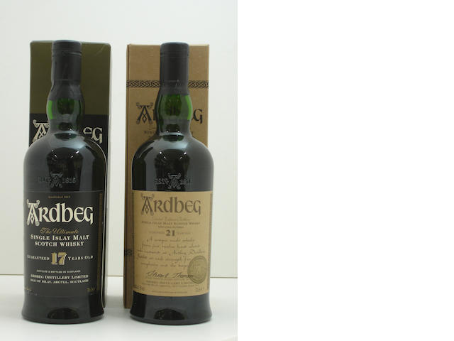 Ardbeg-17 year old<BR /> Ardbeg-21 year old