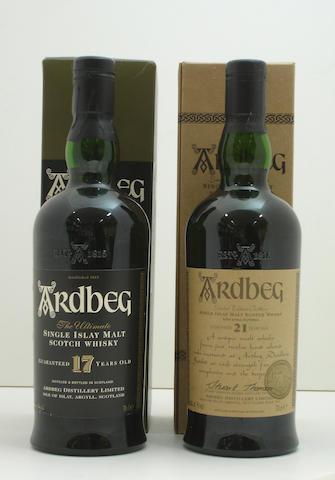 Ardbeg-17 year old<BR /> Ardbeg-21 year old