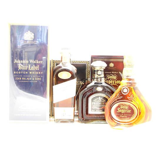 Johnnie Walker Blue Label<BR /> Johnnie Walker 1820<BR /> Johnnie Walker Premier<BR /> Johnnie Walker Swing Superior