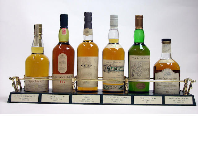 Glenkinchie-10 year old<BR /> Lagavulin-16 year old<BR /> Oban-14 year old<BR /> Cragganmore-12 year old<BR /> Talisker-10 year old<BR /> Dalwhinnie-15 year old
