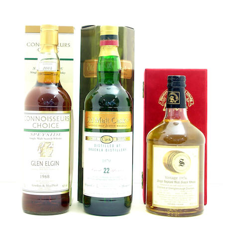 Glen Elgin-36 year old-1968  Brackla-22 year old-1979  Glenglassaugh-27 year old-1976