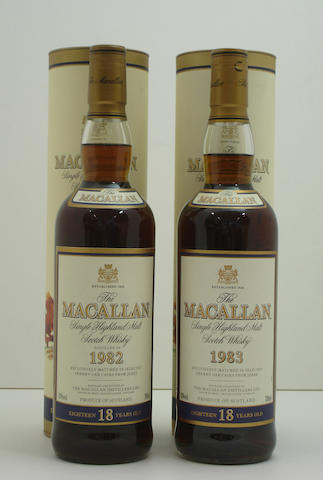 The Macallan-18 year old-1982<BR /> The Macallan-18 year old-1983