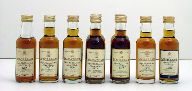 The Macallan-18 year old miniatures (9):