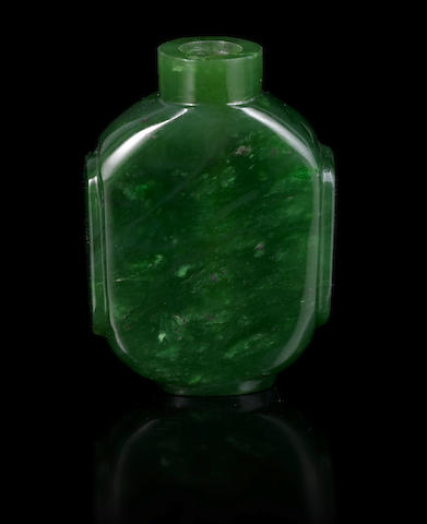 A spinach jade snuff bottle