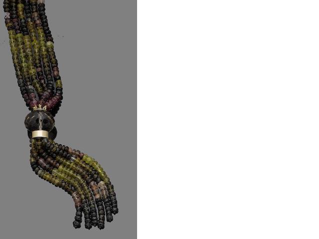 A tourmaline sautoir