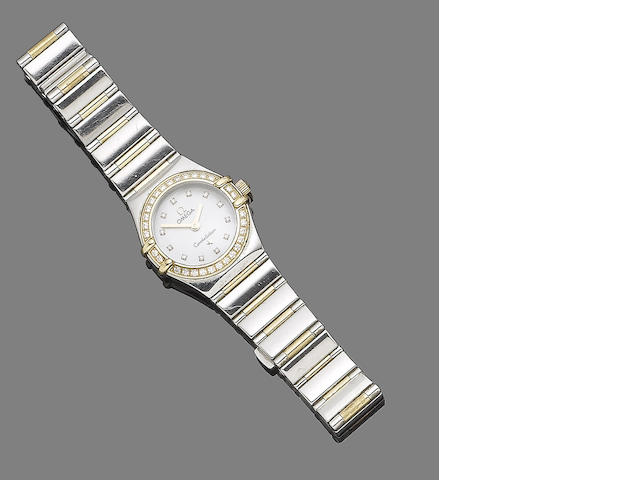 A diamond-set 'Constellation' watch, by Omega