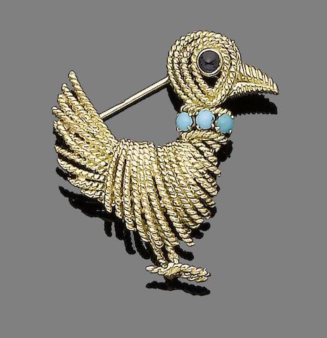 A gem-set brooch, by Boucheron