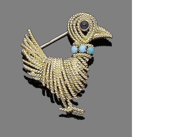 A gem-set brooch, by Boucheron