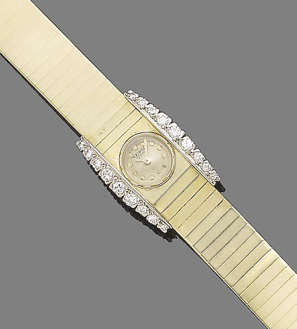 A diamond-set wristwatch, by Omega