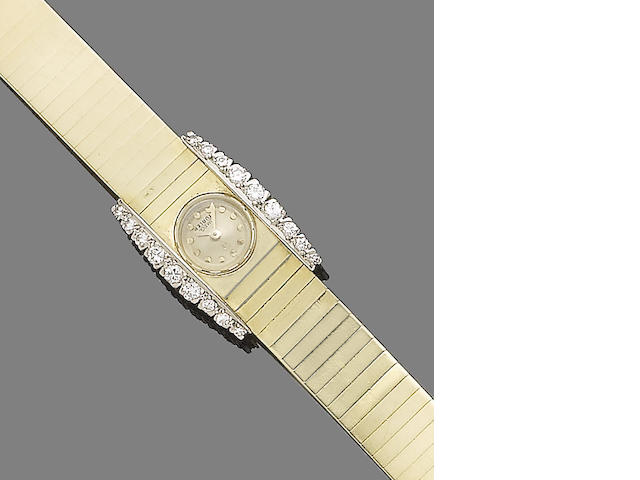 A diamond-set wristwatch, by Omega